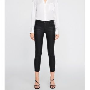 Zara skinny coated jeans